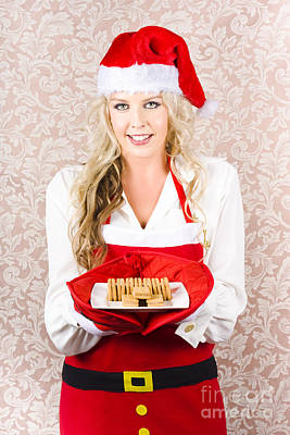 Retro Housewife Baking Christmas Cookies Print by Jorgo Photography - Wall Art Gallery