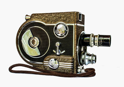 8mm Photograph - Revere 8 Movie Camera by Jon Woodhams