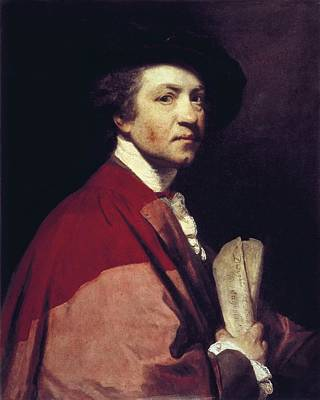 Self Portrait Photograph - Reynolds, Sir Joshua 1723-1792 by Everett