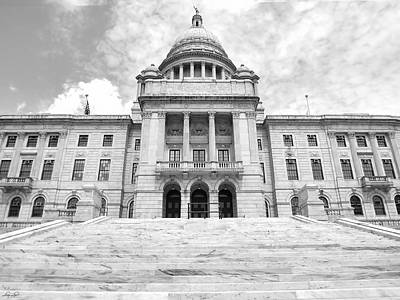 Cityhall Photograph - Rhode Island State House by Lourry Legarde