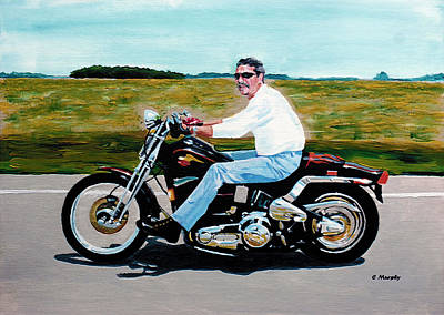 Road Rod Painting - Ridin Free Full Frame by Charles Murphy