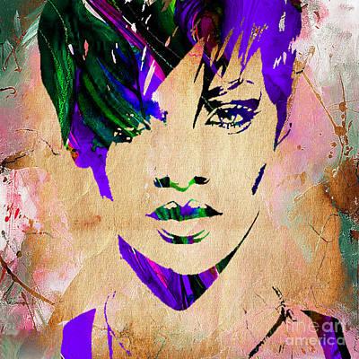 Rihanna Mixed Media - Rihanna Collection by Marvin Blaine