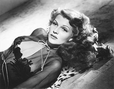 1940s Hairstyles Photograph - Rita Hayworth, Columbia Portrait by Everett