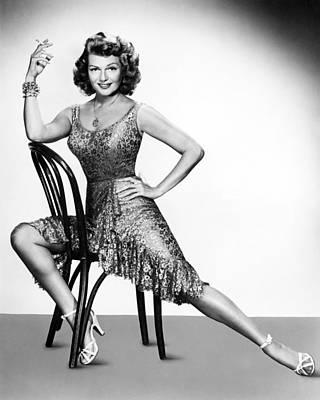 Rita Hayworth Print by Silver Screen