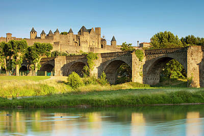 Languedoc Photograph - River Aude And Old Bridge (14th Cent by Brian Jannsen