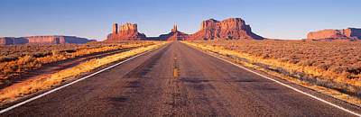 Road Monument Valley, Arizona, Usa Print by Panoramic Images