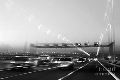 Trace Photograph - Road Traffic by Carlos Caetano
