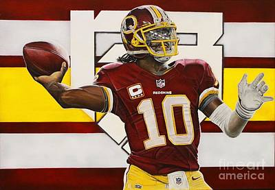 Nfl Painting - Robert Griffin IIi by Anthony Young