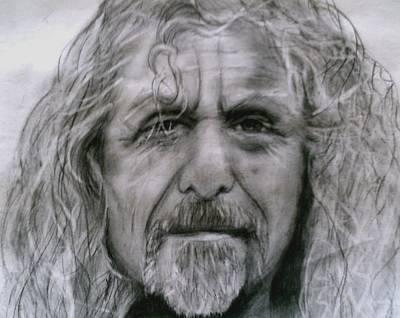 Robert Plant Drawing - Robert Plant by Paula Soesbe