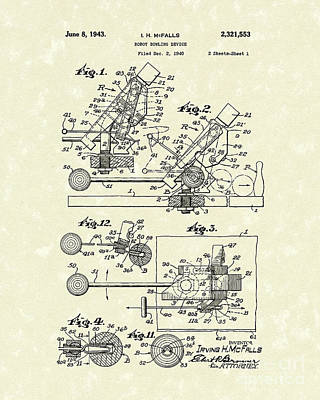 1943 Drawing - Robot Device 1943 Patent Art by Prior Art Design