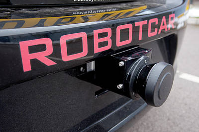 Self Photograph - Robotcar Autonomous Car by John Cairns/oxford University Images
