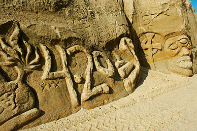 Carving Photograph - Rock Carvings Between Fillmore by Panoramic Images