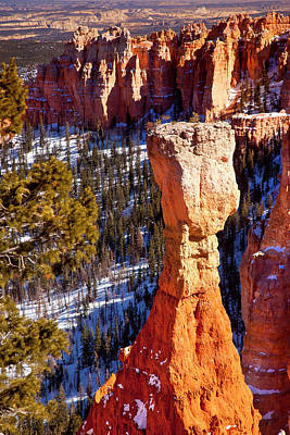 Pinnacle Overlook Photograph - Rock Formation, Hoodoo, In Aqua Canyon by Brian Jannsen