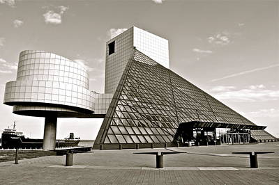 Rock Hall Of Fame Print by Frozen in Time Fine Art Photography