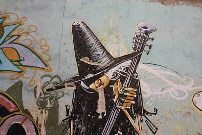 Rocking Witch Print by Jan Katuin