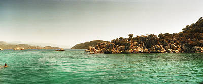 The Edge Photograph - Rocky Island In The Mediterranean Sea by Panoramic Images