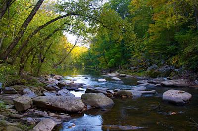 Wissahickon Creek Photograph - Rocky Wissahickon Creek by Bill Cannon