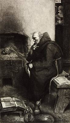 Roger Bacon, English Natural Philosopher Print by Science Photo Library