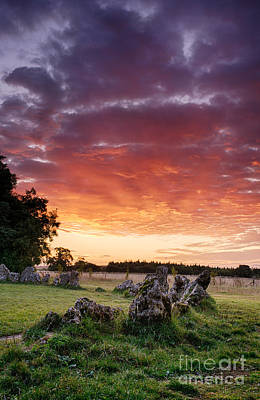 Rollright Stones Sunrise Print by Tim Gainey