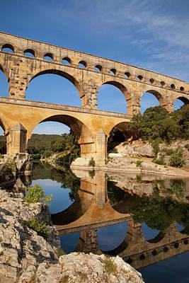 Languedoc Photograph - Roman Bridge And Aqueduct, Pont Du Gard by Brian Jannsen
