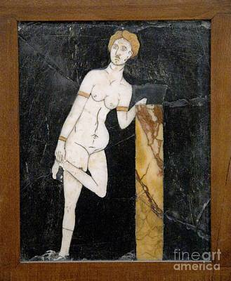 Marble Mosaic Photograph - Roman Mosaic Of Venus by Sheila Terry
