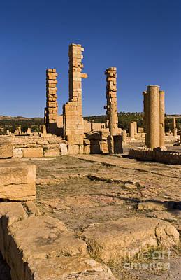 Northern Africa Photograph - Roman Ruins Of Sufetula, Tunisia by Bill Bachmann