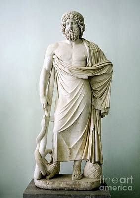 Roman Statue Of Asclepius Print by Sheila Terry