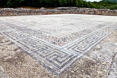 Mosaico Photograph - Roman Swastika Decoration by Jose Elias - Sofia Pereira