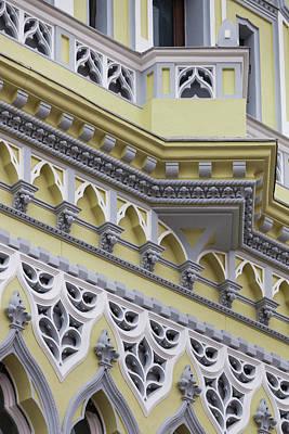 Romania Photograph - Romania, Transylvania, Brasov, Building by Walter Bibikow