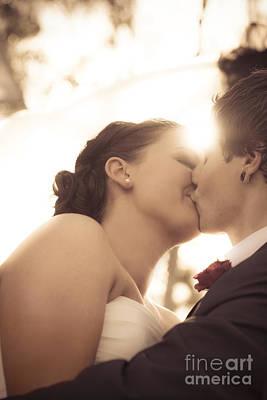Romantic Wedding Kiss Print by Jorgo Photography - Wall Art Gallery