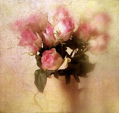 Soft Digital Art - Rose Bouquet by Jessica Jenney