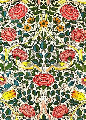 Rose Design Print by William Morris