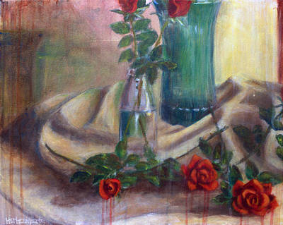 Roses Of Laughter Print by Josh Hertzenberg