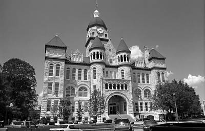 Route 66 - Jasper County Courthouse Print by Frank Romeo