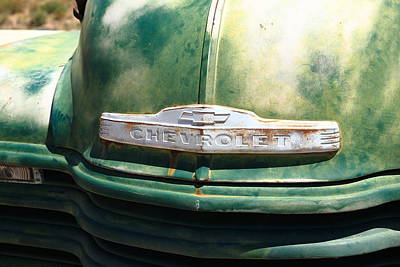 Mural Photograph - Route 66 - Old Green Chevy by Frank Romeo