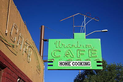 Mural Photograph - Route 66 - Uranium Cafe by Frank Romeo