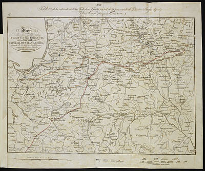Moscow Photograph - Route Of The Retreat Of Napoleon's Army by British Library