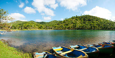 Rowboats In A Pond, Las Terrazas, Pinar Print by Panoramic Images