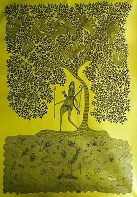 Ram Singh Urveti Painting - Rsu 72 by Ram Singh Urveti