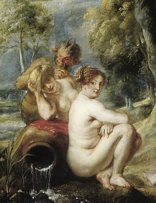 Rubens, Peter Paul 1577-1640. Nymphs Print by Everett