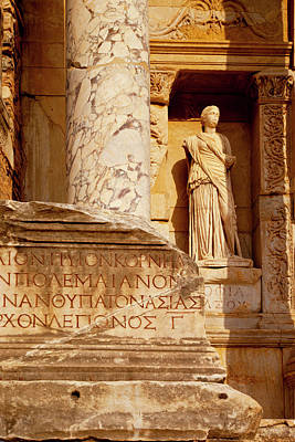 Bible Photograph - Ruins Of The Library Of Celsus by Brian Jannsen