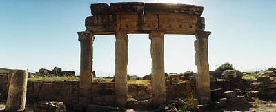 Roman Ruins Photograph - Ruins Of The Roman Town Of Hierapolis by Panoramic Images