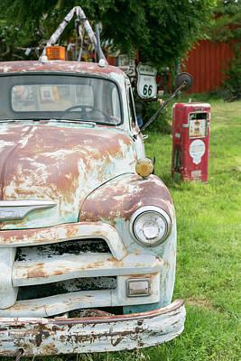 Antique Automobile Photograph - Rusted Antique Automobile, Tucumcari by Julien Mcroberts