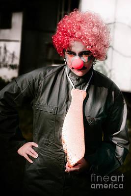 Edgy Photograph - Sad Clown by Jorgo Photography - Wall Art Gallery