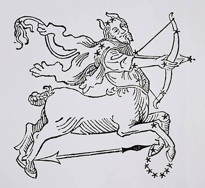 Signs Of The Zodiac Drawing - Sagittarius  by Italian School