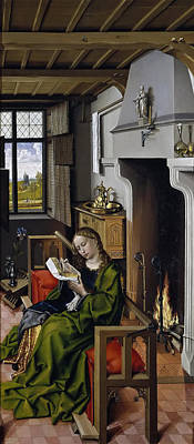 Robert Campin Painting - Saint Barbara by Robert Campin