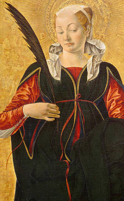 Martyr Painting - Saint Lucy by Francesco del Cossa
