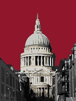 Saint Pauls - Blazing Red Print by Big Fat Arts