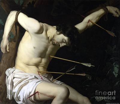 Redeemer Drawing - Saint Sebastian by Celestial Images