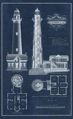 Saint Simon Lighthouse Print by Jerry McElroy